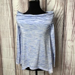 Cowl neck tunic periwinkle